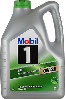 AU114.95 • Buy Mobil 1 ESP 0W-20 Full Synthetic Engine Oil 5L 140596