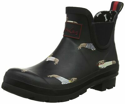 Joules Women's Wellibob Rain Boot (8 M US, Black All Over Dogs) • 67.81$