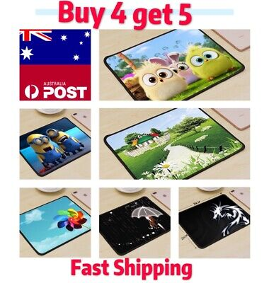 AU7.50 • Buy Mouse Pad Laptop Computer Mousepad PC Mat Desktop Red And Green Mac Gaming Pad