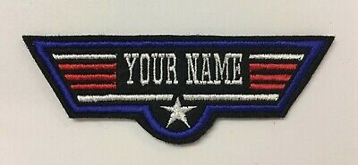Personalised Custom Top Gun Maverick Style Name Felt Patch Fancy Dress Halloween • 3.50£