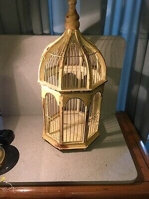 $65 • Buy Antique BIRD CAGE Round Canary Finch Parakeet Vintage