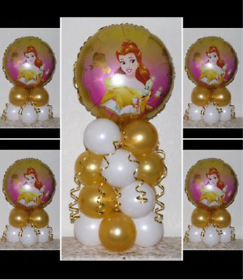 BELLE DISNEY PRINCESS - 5 Pack Party Set - Table Balloon Decoration Display Kit  • 4.99£