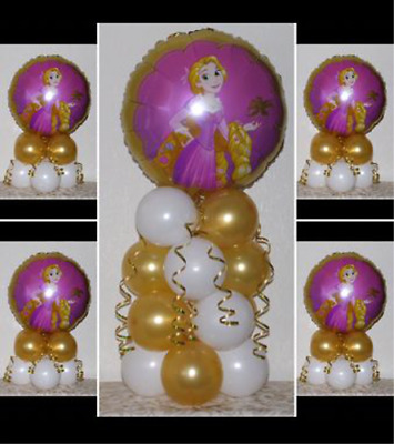 RAPUNZEL  DISNEY PRINCESS - 5 Pack Party Set - Table Balloon Decoration Display  • 4.99£