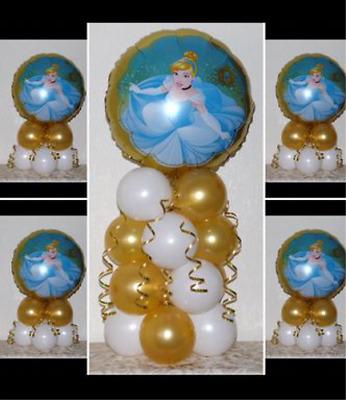 CINDERELLA DISNEY PRINCESS - 5 Pack Party Set -Table Balloon Decoration Display  • 4.99£