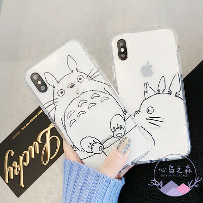 For IPhone 11 Pro Max XS XR 6 6S 7 8 Plus Cute Cartoon Totoro Phone Case Cover • 2.88£