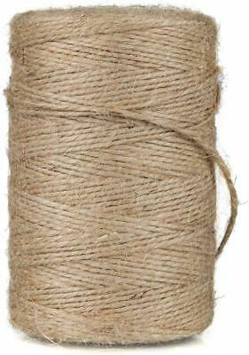 10m-1000M Metre Natural Brown Shabby Rustic Twine String Shank Craft Jute  • 1.69£