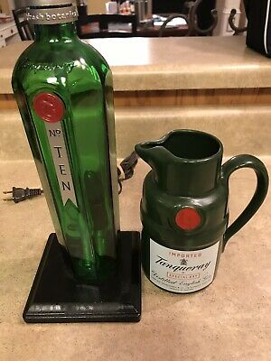 AU75.38 • Buy Tanqueray Gin No. 10 London Dry Gin Upcycled Bottle Lamp And Ceramic Pitcher