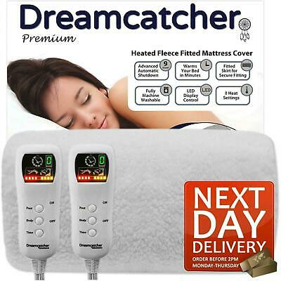 £59.95 • Buy King Size Electric Blanket Luxury Fitted Fleece Heated With Dual Controls  Bed