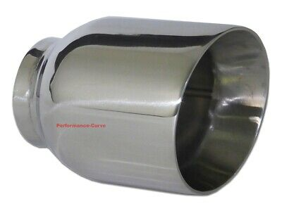 $ CDN33.50 • Buy Stainless Steel Exhaust Tip Double Wall Angle 2.5  Inlet - 4  Outlet - 5  Long