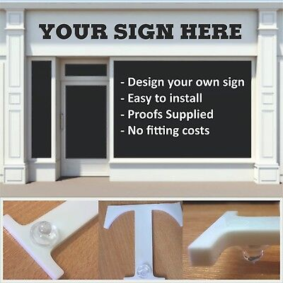 3mm Stand Off Acrylic Lettering - Custom Shop Front Fascia Sign - Business Signs • 20.70£
