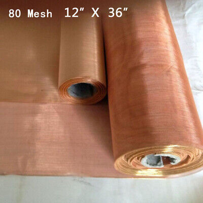 80 Mesh 200 Microns Copper Woven Wire Filter Sheet Screen 12X36 Accessories • 5.81£