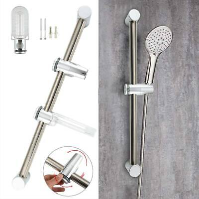 Chrome Bathroom Shower Riser Rail Bracket Shower Head Holder Bar Kit Adjustable. • 9.99£