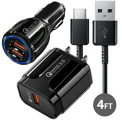 $ CDN11.29 • Buy Original Samsung Galaxy Note8 S8 S9 Plus Fast Car Wall Charger +4FT Type-C Cable