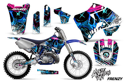 AU177.59 • Buy Yamaha YZ125 YZ250 Dirt Bike Graphic Sticker Kit Decal Wrap MX 96-01 FRENZY BLUE
