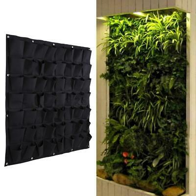 56 Pocket Hanging Vertical Garden Planter Bag Indoor Outdoor Herb Pot Wall Decor • 11.49£