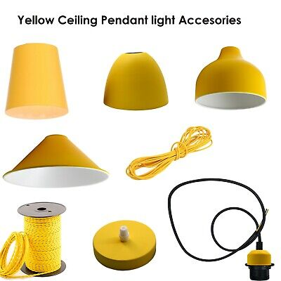 Vintage Light Fitting Ceiling Rose Fabric Cable Pendant Lamp Holder Accessories • 5.78£