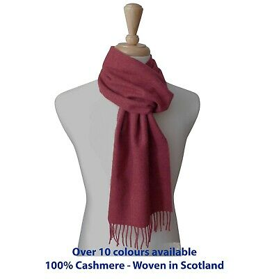 £32.95 • Buy Pure Cashmere Classic Woven Scarf - Made In Elgin, Scotland