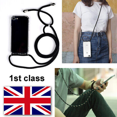 Case Cover With Neck Lanyard Cord Strap Crossbody For IPhone 7 8 Plus X XS 11 • 4.98£