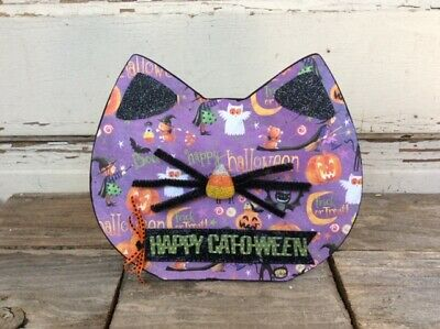 $ CDN18.09 • Buy AGD Halloween Decor - Happy Cat O Ween Face Tabletop Sign