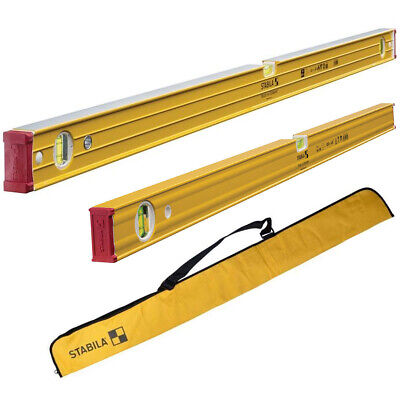 Stabila 96260 60cm + 962120 120cm Double Plumb Level Twin Pack With Carry Bag • 99£