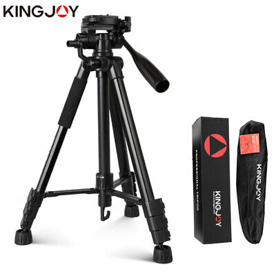 £30.52 • Buy KINGJOY SLR DSLR Aluminium Camera Tripod Video Accessories Stand With Pan Head