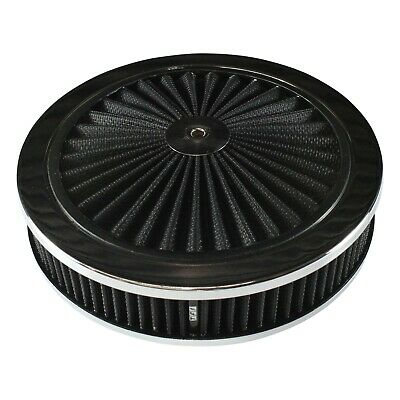 AU79.95 • Buy Extraflow Black Chrome Air Cleaner Filter 9 X 2  Assy Fit Holley 5-1/8  Base