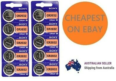 AU14.99 • Buy Genuine SONY CR2032 2032 3V Lithium Coin Button Batteries Brand New