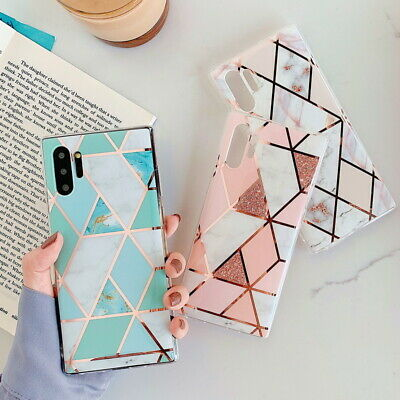 $ CDN5.09 • Buy Marble Case Geometric Gel Cover For Samsung Note 20 Ultra S20 FE 5G A71 A70 S9