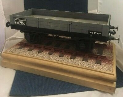 5 G Inch Gauge 3 Plank Open Wagon Grey Miniature Scale  Railway Freight (47&48) • 515£