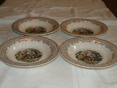 $24 • Buy Lot Of 4 Sebring China CHANTILLY Pattern 8  Soup Bowls - Also Matches China D'or