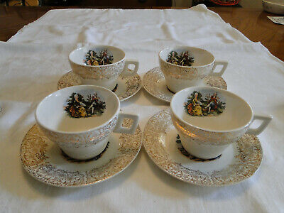 $30 • Buy Lot Of 4 Sebring China CHANTILLY Cup & Saucer Sets - Also Matches China D'or