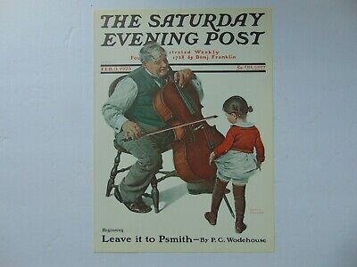 $ CDN8.80 • Buy Saturday Evening Post FEB 3,1923  (REPRINT) Norman Rockwell (COVER ONLY)