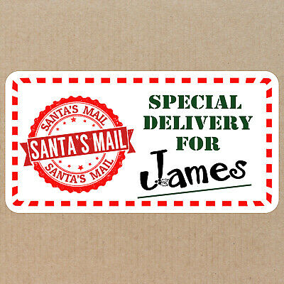 72 Personalised Christmas Present Labels Stickers From Santas Mail Custom Names • 2.99£