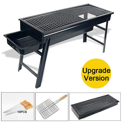 AU36.99 • Buy Outdoor Foldable BBQ Charcoal Grill Portable Barbecue Camping Picnic Hibachi