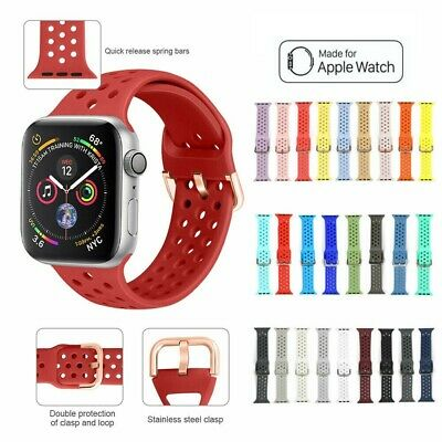 AU7.49 • Buy Apple Watch Series 1 2 3 4 5 Sport Silicone Replacement Strap Band 38 40 42 44mm