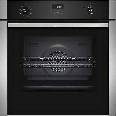 £668.99 • Buy Neff N50 Slide & Hide 6 Function Single Oven With Catalytic Cleaning - Stainless