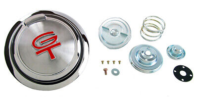 $79 • Buy NEW! 1967 - 1968 Ford Mustang Gas Cap Pop Open Red GT Emblem Chrome