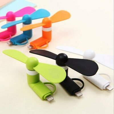 AU6.99 • Buy 2 IN 1 Mini Travel Portable Cell Phone Fan For LPhone Android Usb Mobile Fans