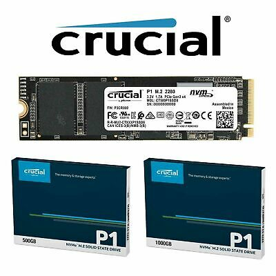 AU160 • Buy Crucial 500GB 1TB P1 SSD M.2 PCIe NVME NAND Internal Solid State Drive 2000MB/s