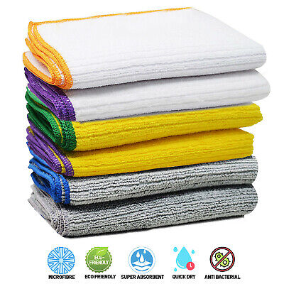 £5.99 • Buy Towelogy® Microfibre Cleaning Dish Cloths Drying Absorbent Kitchen Tea Towels UK