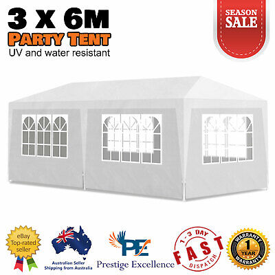 AU157.90 • Buy Outdoor Garden Gazebo Wedding Party Tent 3x6m Marquee Canopy Camping Shade White