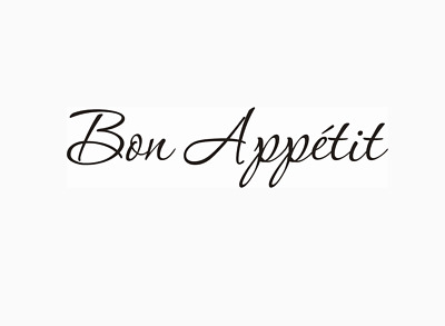 Bon Appetit Enjoy Your Meal Wall Stickers Wall Quotes  UK 32v • 4.20£