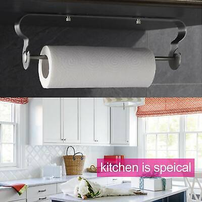Modern Kitchen Towel Paper Roll Holder Wall Mounted Stainless Steel Dispenser UK • 9.99£