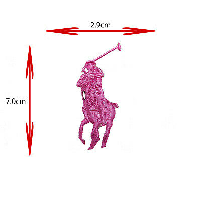 Sports Brand Logo Horse Polo (pink) Iron On/sew On Embroidered Patch Badge • 1.99£