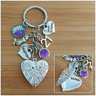 Personalised Happy Birthday Gifts Charm Keyring 16th 18th 21st 30th Gift For Her • 5.99£