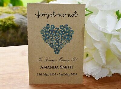 Funeral Favours Seed Packets Forget Me Not Seeds Remembrance Memorial With Seeds • 5.50£