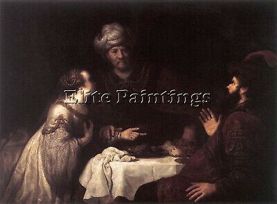 $ CDN362.54 • Buy Jan Victors Esther And Haman Before Ahasuerus Artist Painting Reproduction Oil