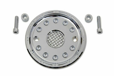 Outlaw Chrome Pulley Cover Kit For Harley Davidson By V-Twin • 70.80$