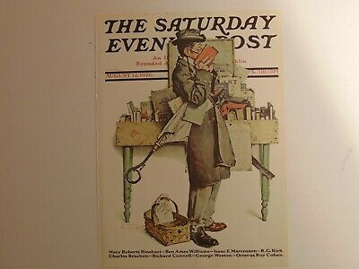 $ CDN8.96 • Buy The Saturday Evening Post AUG 14,1926  (REPRINT) Norman Rockwell (COVER ONLY)