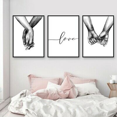$0.99 • Buy Black And White Love Quote Canvas Painting Minimalist Art Wall Pictures Poster